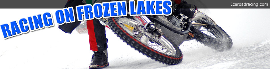 Roadracing on frozen lakes